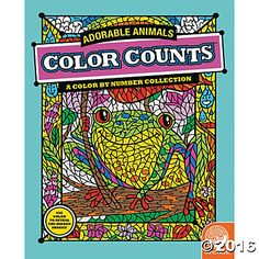 Color Counts: Adorable Animals  Filled with original, hand-drawn illustrations of adorable animals, these coloring pages incorporate the color-by-number concept. As you color, fantastic hidden images reveal themselves. Once you've completed the numbered designs, try the un-numbered version of the illustration to add your own unique style. #MindWareToys #FreePrintable #ColorByNumber