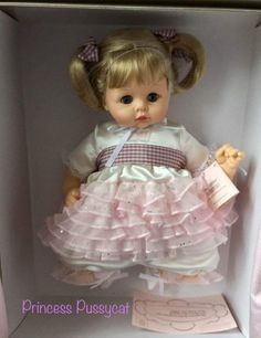 "MADAME ALEXANDER PRINCESS PUSSYCAT 14"" LOVELY BABY DOLL FOR SPRING! BECOMING HTF #MadameAlexander #DollswithClothingAccessories"