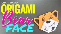 Fun and Easy Origami Bear Face - Origami Tutorial for the Ultimate Begin...