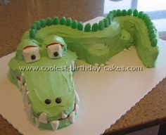 Coolest Crocodile Cake Photos - Web's Largest Homemade Birthday Cake Photo Gallery