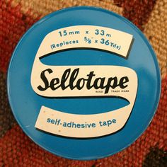 When Sellotape came in tins.
