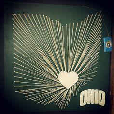 Ohio University Bobcats String Art 24x24 or 16x16 via Etsy