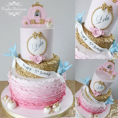 cookie.delicious. Cinderella #birthday #cake ... 1st Birthday Party For Girls, Baby Birthday Cakes, Birthday Parties, Cinderella Birthday, Princess Birthday, Construction Party Cakes, Fall 1st Birthdays, Princess Cake Toppers, Bithday Cake