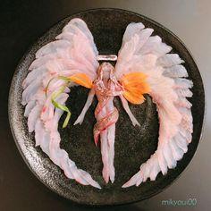 L'art Du Sushi, Arte Do Sushi, Sushi Art, Sashimi, Amazing Food Art, Creative Food Art, Edible Art, Food Presentation, Food Plating
