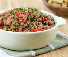 Salada de Lentilhas com Tomate e Pimentão