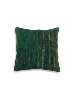 Green Recycled Silk Cushion by nuLOOM at Gilt. home decor, rug, area rug, carpet, pattern, print, design, decor, style, modern, home, house, contemporary, trends, interior design, interiors, sale, discount.