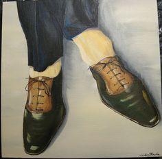 """""""Chaussure Fétiche""""  Acrylique sur toile  40 cm x 40 cm  220 euro"""