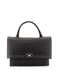 Shark Medium Stud Couture Shoulder Bag, Black by Givenchy at Neiman Marcus.