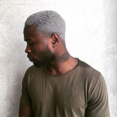Dye color - All For Hair Cutes Grey Dyed Hair, Dyed Hair Men, Men Blonde Hair, Curly Hair Men, Grey Hair Black Man, Men With Grey Hair, Hair Color For Black Hair, Black Boys, Black Boy Hairstyles