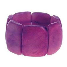 Polished Tagua Nut Bracelet in Berry - Faire Collection