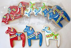 Swedish Dala Horse Cookies | Flickr - Photo Sharing!