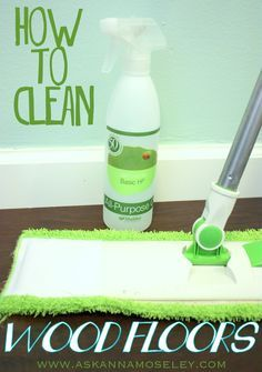 How to Clean Wood Floors: if you have hardwood floors that are supposed to be waxed, then this site highly recommends the Orange Glo Hardwood Floor Cleaner. Otherwise it's Basic H & Scotch Brite Microfiber Hardwood Floor Mop after vacuuming. Cleaners Homemade, Diy Cleaners, House Cleaners, Cleaning Recipes, Cleaning Hacks, Cleaning Supplies, Cleaning Services, Cleaning Wood Floors, Floor Cleaning