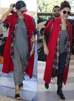 9 Times Deepika Padukone Nailed The Airport Look -cosmopolitan. Celebrity Casual Outfits, Casual Fall Outfits, Winter Fashion Outfits, Celebrity Dresses, Look Fashion, Women's Fashion Dresses, Chic Outfits, Womens Fashion, Star Fashion