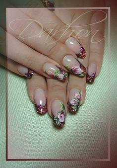 roses+by+Darhon+-+Nail+Art+Gallery+nailartgallery.nailsmag.com+by+Nails+Magazine+www.nailsmag.com+#nailart