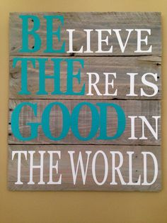 "Custom Quote Pallet sign ""Be The Good"" on Etsy, $70.00"