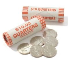 Rolls of quaters for Laundry