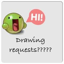 I will be taking requests! Comment what you would like, and I'll try to draw it for you as soon as possible! This may take time! Also, this will be on my art board.