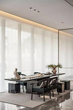 之恩设计 | 寓艺术于空间 Modern Chinese Interior, Ballroom Design, Tea Culture, Chinese Style, Changchun, Dining Table, Workspaces, Living Room, House