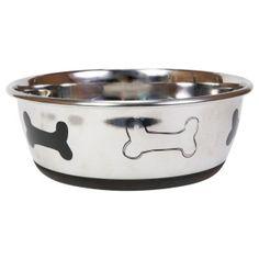 Top paw stoneware designer dog bowl petsmart pet for Cat proof fish tank
