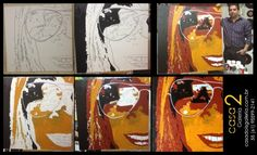 Pintura acrílica sobre tela. Retrato de Doresday Neres.