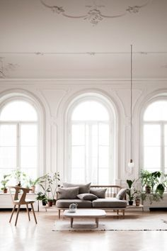 Space Copenhagen: Beautiful bright space, love the colours, styling and texture.