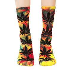HUF Tropical Tie Dye Plant Life Crew Sock ($16) ❤ liked on Polyvore featuring intimates, hosiery, socks, tye dye socks, tie dyed socks, huf, huf socks and crew socks
