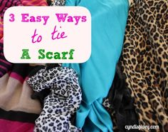 3 Easy Ways To Tie A Scarf