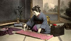 KIMONO DAYS -- Japanese Women and Their Everyday Tools  鯨尺 by Okinawa Soba, via Flickr. Basic beginnings of a kimono. The link has an interesting account of some of the history.