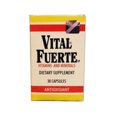 Vital Fuerte Vitamins And Minerals Capsules 30 ea Vitamin B Complex, Vitamins And Minerals, Ea, Free Shipping, Physical Activities, Strong