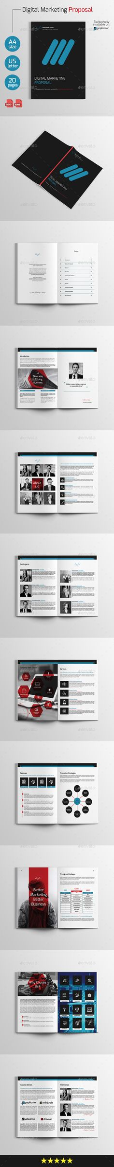 Proposal Template Vector EPS, InDesign INDD, AI Illustrator - proposal template