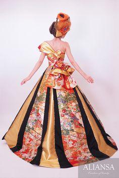 Wedding dress · wedding dress' s dress order · rental dress is Ariansa Wedding Kimono, Wedding Gowns, Kimono Dress, Dress Up, Orientation Outfit, Ball Dresses, Prom Dresses, Japanese Wedding, Dress Rental
