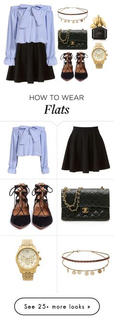 """""""Untitled #190"""" by ggabii on Polyvore featuring LC Lauren Conrad, Aquazzura, Chanel, Michael Kors, Miss Selfridge and Marc Jacobs"""