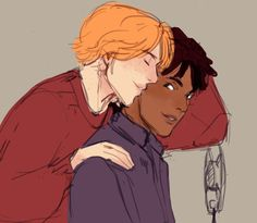 AU where George still marries Angelina and Fred starts dating Lee Jordan Harry Potter Ships, Harry Potter Fan Art, Lee Jordan, Cool Kidz, Weasley Twins, Pet Peeves, Drarry, Hogwarts, Jordans