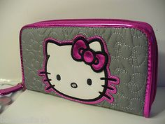 Loungefly Hello Kitty with Bow Quilted Zip Around Wallet