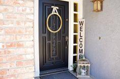 DIY Repurposed Welcome Sign