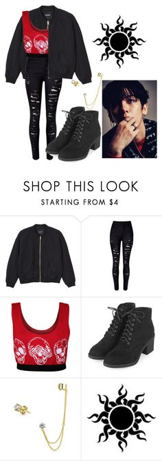 """Exo Monster Inspired Outfit"" by pandagirl2102 ❤ liked on Polyvore featuring Monki, WearAll, Topshop and Bling Jewelry"