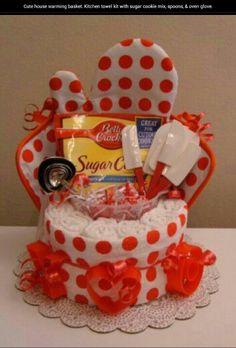 Cute house warming basket