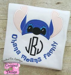 Hawaiian Alien Ohana Applique