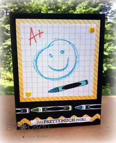 @Julie Masse created this absolutely FUN card using this month's You Rule Set!  So cute!!
