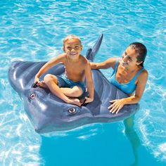 Inflatable Stingray Pool Swimming Float Kids Ride On Rafting Water Beach Toy NEW #INTEX