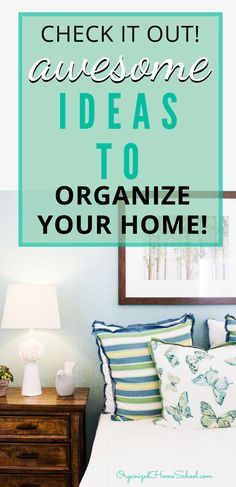 Need some organizing ideas for your whole house? Learn how to organize your house room by room from professional veteran organizers right here. Study Desk Organization, Towel Organization, Financial Organization, Garage Organization, Organizing Your Home, Organization Ideas, Veterans Organizations, Master Bedroom Closet, Vertical Storage
