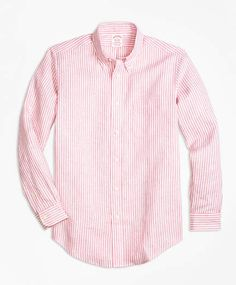 098d43b9 Brooks Brothers Madison Fit Stripe Irish Linen Sport Shirt Sports Shirts, Men's  Shirts, Brooks