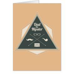 Dad Hipster Modern Badge