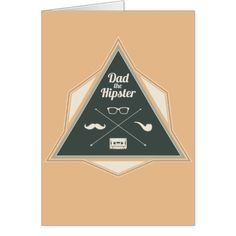 Dad Hipster Modern Badge