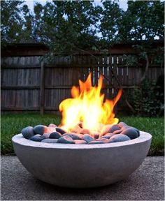 DIY outdoor firepit