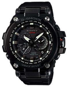 This Casio men's MT-G series metal twisted G-Shock is tough and highly functional. The metal bezel on the front of the watch and metal back cover create a frame that holds inner workings to reduce the