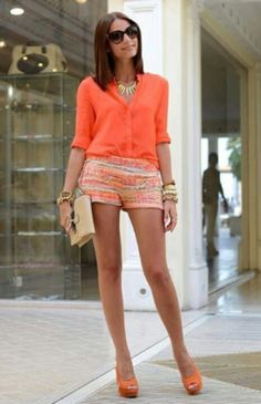 I would probably do a nude colored wedge or sandals instead but love the rest of it