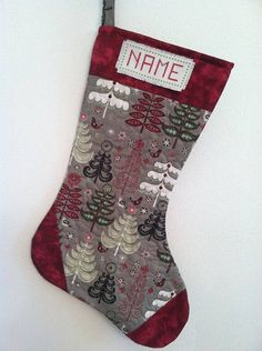 Personalized Quilted Christmas Stockings by CraftyMommy09 on Etsy, $25.00 Quilted Christmas Stockings, Winter Christmas, Christmas Ideas, Craft Projects, Craft Ideas, Quilt Patterns, Stocking Ideas, Homemade, Sacks
