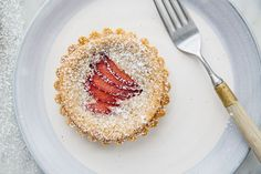 Frangipane Tart. Make a crust, some filling, top it with your favorite seasonal fruit and you've got: Frangipane.