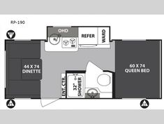 New 2020 Forest River RV R Pod RP-190 Travel Trailer at Quietwoods RV | Neenah, WI | #20424